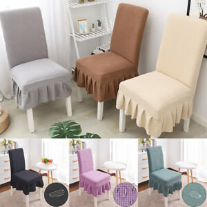 Chair Stretch Dining Chair Cover Skirt Home Chair Dining Room Removable Covers