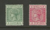 Gibraltar Queen Victoria MM Mint Stamps Great Condition Old Collection