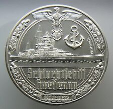 2 Weltkrieg 1939-1945 Wwii Germany Silver Medal 35 Grams .999 Fine Silver V.40