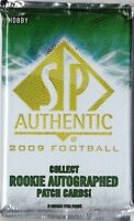 1-2009 UPPER DECK SP AUTHENTIC NFL ROOKIE PATCH AUTOGRAPH  HOBBY HOT PACK