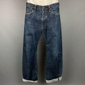 PRPS Size 34 Dark blue Selvedge Denim Button Fly Jeans