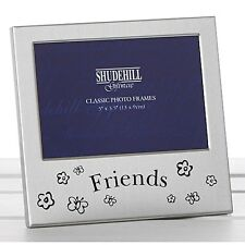 Friends Satin silver photo frame 5x3.5 Wedding Gift For Friends Family Shudehill