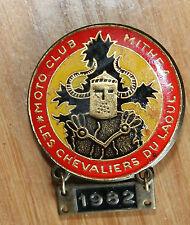 ancienne médaille insigne moto club mithra . les chevaliers du laoul .