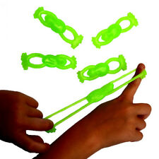 10Pcs Vinyl Stretchable Flying Slingshot Frogs Shape Great Kids Favors Fun Toy