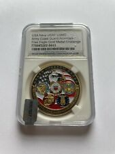 More details for usa navy/army/coast guard gold medal in display slab