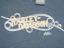 VTG 80s 3D Harley Davidson Ladies Biker Top M Loops Motorcycle Biker not 70s 90s