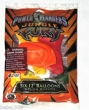 "POWER RANGERS  JUNGLE FURY  SIX /12""  LATEX  BALLOONS  PARTY SUPPLIES"