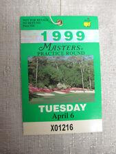 1999 Augusta National Masters Tournament Original Ticket Jose Maria Olazabal