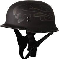 Fly Racing 9MM Half Helmet GHOST SKULL Mens Cruiser, Harley style XS ONLY