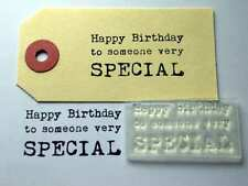Happy Birthday To Someone Very Special Typewriter Clear Stamp For Handmade Cards