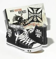 WEST COAST CHOPPERS SHOES KUSTOM KICKS BLACK **BRAND NEW & IN STOCK**