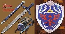 ZELDA MASTER SWORD AND LEGEND OF ZELDA HYLIAN SHIELD