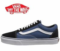 Men's Vans Old Skool Fashion Sneaker Core Classic Navy Canvas Suede All Size NEW