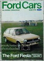 FORD CAR RANGE Sales Brochure June 1978 #FA221/38 Fiesta RALLYE SPORT Capri