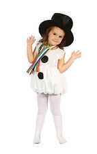 Childrens Snowman Fancy Dress Costume Girls Kids Childs Toddler Outfit 2-3 Yrs