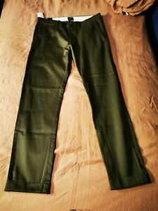 RRP £80 JCrew 848 Mens Olive Chinos 29 30x32 - Gap Uniqlo Banana Republic