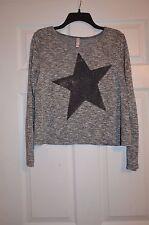 Xhilaration Girls XL 14 - 16 Star Metallic Stitching Sweater