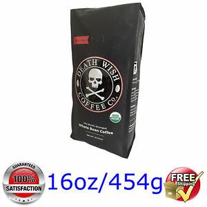 Death Wish Coffee @ The Strongest WHOLE BEAN  COFFEE @ 1lb/16oz/454g