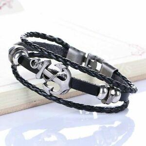 Anker Damen Herren Vintage Armband Surferarmband Armschmuck Kette Bracelet WOW