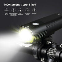 Light Super Bright 1000 Lumens Cree LED Bike Front Headlight  &100 Lumens Tail