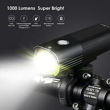 Light Super Bright 1000 Lumens Cree LED Bike Front Headlight & 2x Rear Bicycle