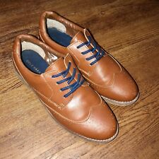 Cole Haan Men's 6 Harrison Wingtip Brown Faux-Leather Oxford Dress Shoe Womens 8