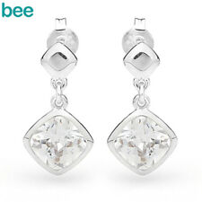 New Simulated Diamond All 925 Sterling Silver Earrings 35311