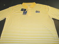 Drexel University Dragons Embroidered Striped Golf Polo Shirt New! NWT XXL 2X