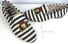 Marc Jacobs NWB NEU $595 Blue & White Stripe Canvas Schuh EUR 41 US 11