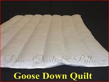 1 KING QUILT /DUVET BRAND NEW -WALLED & CHANNELLED- 50% GOOSE DOWN - 4 BLANKETS