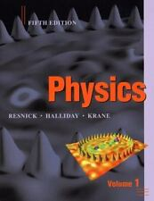 Physics 5th Edition, Volume 1 with WileyPLUS Card Set by David Halliday (2013, P