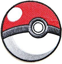 Pokeball Pokemon Game logo Embroidered Iron On / Sew On Patch