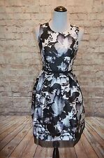 Modcloth Visionary Violinist Dress NWT 4 satin black white Donna Ricco fit flare