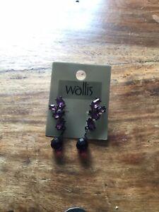 Wallis Purple Earrings. BN RRP £8.50