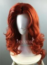 New fashion wave copper red wig curly anime cosplay halloween jessica female