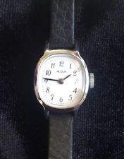 Vintage Acqua Women's Wristwatch Oval Black Band