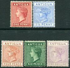 ANTIGUA-1884-87 Set to 1/- Sg 25-30  MOUNTED MINT V29729