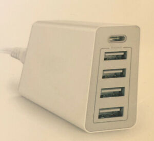 Home Charger - Type C, & USB, 5 Port Charger(iPhone, Android)