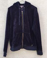 Juicy Couture Velour Hoodie Jacket Zip Blue Women's Medium