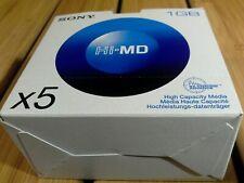 SONY MINIDISC NEW 5 1GB DISCS.