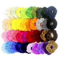 12 Pcs Women Hair Scrunchies Velvet Elastics Hair Ties Bands Ties Ropes