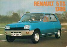 Renault 5 TS 1300 1975 UK Market Foldout Sales Brochure