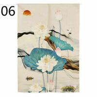 Noren Doorway Curtain Chinese Cotton Linen Curtain Valance Room Divider Decor