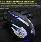 Wired Gaming Mouse 4000 DPI Programmable Breathing Light Mute Mechanical Mouse