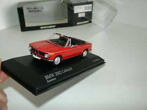 1/43 BMW 2002 CABRIOLET 1971 RED by MINICHAMPS