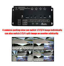 360° Full Views Car Parking Video Recording(DVR) Split Image Screen Switch Box