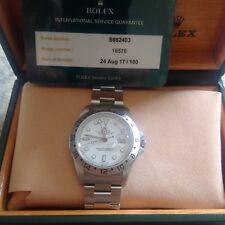 ROLEX EXPLORER II 2 GMT EDELSTAHL/WEISS 40MM  16570