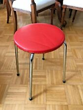 Vintage German Retro Kitsch 1950s Kitchen Stool Chair Display Prop Industrial