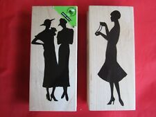 Silhouette Woman Rubber Stamp Hero Arts K5519 & K5520