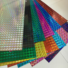 "Holographic 1/4"" Mosaic Prism Sign Vinyl Sample Pack, 12 Sheets, 8"" x 12 Inch"